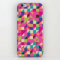 TRIANGLES iPhone & iPod Skin