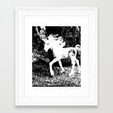 Blissful encounter with the last of its kind Framed Art Print