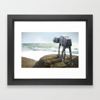 AT-AT walkies Framed Art Print
