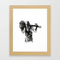 Rocker Black and White Framed Art Print