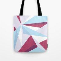 Maroon & sky  Tote Bag