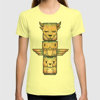 The Legends Womens Fitted Tee Lemon SMALL