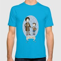 Dr Who Fangirls Mens Fitted Tee Teal SMALL