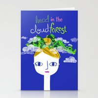 Head in the Cloud Forest Stationery Cards