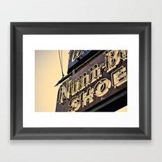 Nunn Shoes Framed Art Print