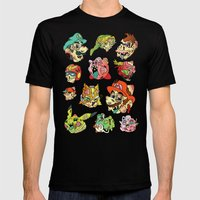 Smashed Bros. Mens Fitted Tee Black SMALL