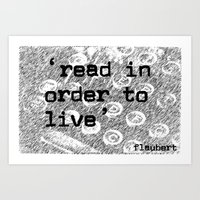 read in order to live Art Print