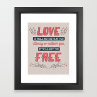 Love Will Set You Free Framed Art Print