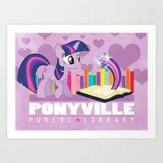 Ponyville Public Library Art Print