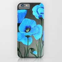 iPhone Cases featuring Blue poppies  by maggs326
