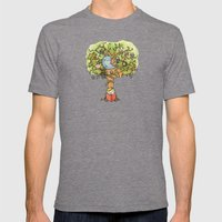 StoryTime Tree Mens Fitted Tee Tri-Grey SMALL
