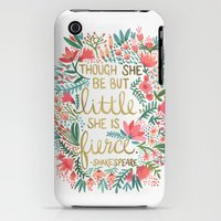 iPhone 3Gs & iPhone 3G Cases featuring Little & Fierce by Cat Coquillette