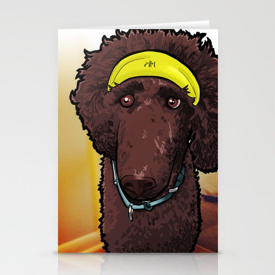 Hobbes (poodle) Stationery Card