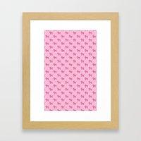 Dogs-Pink Framed Art Print