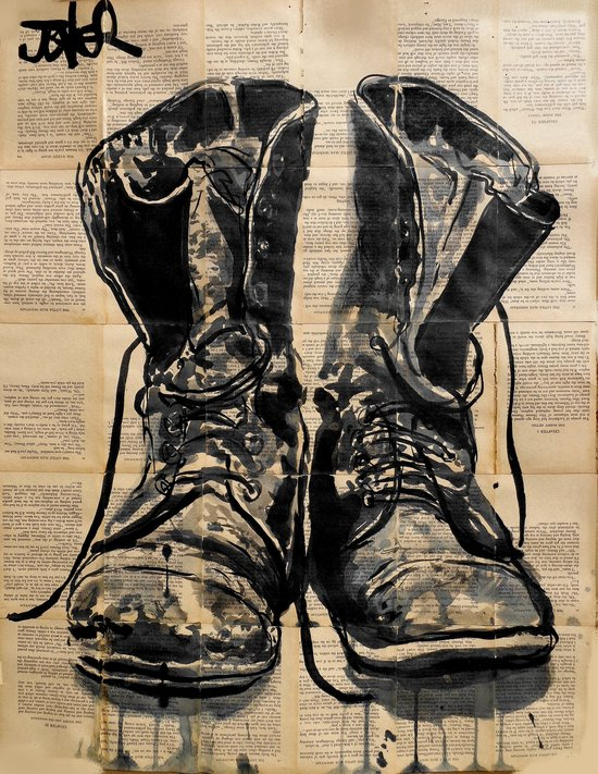 these old boots Canvas Print