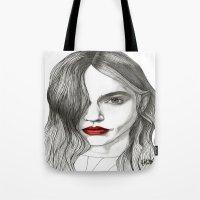 Sasha with Red Lips Tote Bag