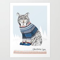 Christmas Lynx // Festive Furries No.1 Art Print