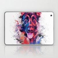 Drippy Jazzy German Shepherd Colorful Dog Art by Jai Johnson Laptop & iPad Skin