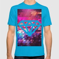 Colors Mens Fitted Tee Teal SMALL