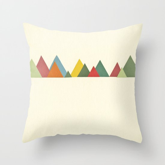 Mountain range Throw Pillow