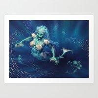 Rampant Oceanids Art Print