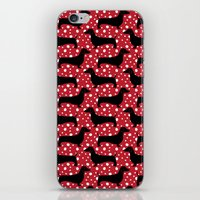 Polka Dachshunds iPhone & iPod Skin