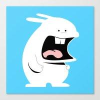 Screaming Rabbit Canvas Print