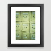 Drawers Framed Art Print