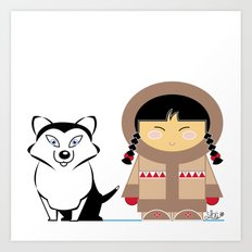 Little Inuit Art Print