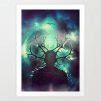 Deer Dreams II Art Print