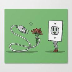 Mr. Plug Loves Ms. Socket Canvas Print