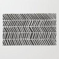 Herringbone – Black & … Rug