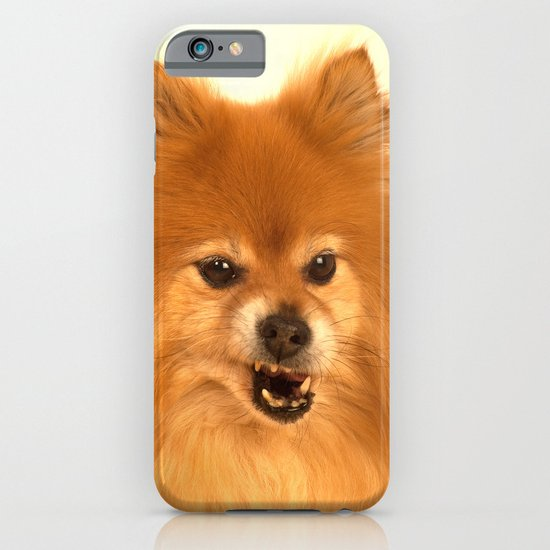 Angry Pomeranian dog iPhone & iPod Case