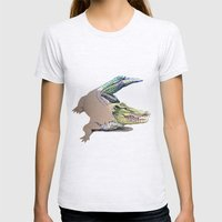 Crocodile Womens Fitted Tee Ash Grey SMALL