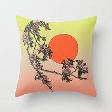 Pugry Blossom Throw Pillow