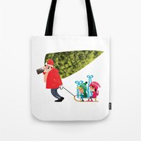 Buying The Christmas Tre… Tote Bag