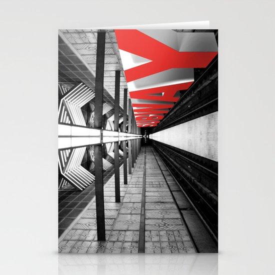 LA subway Stationery Card