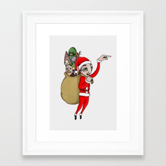 Merry Xmas Framed Art Print