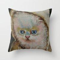 Eskimo Kitten Throw Pillow