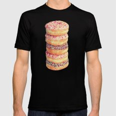 Stack of Donuts Mens Fitted Tee Black SMALL