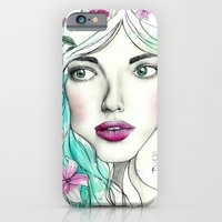 iPhone & iPod Case featuring Ice Queen by Vicky Ink.