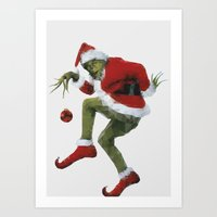 Christmas Grinch Art Print