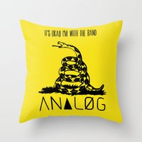 Snake And Band (Analog Z… Throw Pillow