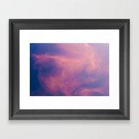 Boreal Purple Framed Art Print