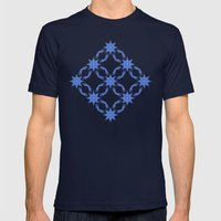 Star Field Pattern Mens Fitted Tee Navy SMALL