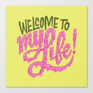 Canvas Print featuring Welcome To My Life by Chris Piascik