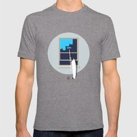 Happiness Mens Fitted Tee Tri-Grey SMALL