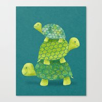 Canvas Print featuring Turtle Stack by Elephant Trunk Studio