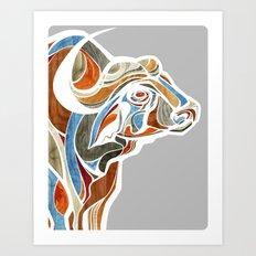 Cape Buffalo (technicolor) Art Print