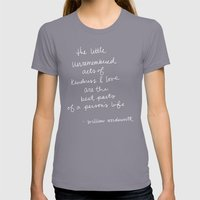 The Little Unremembered … Womens Fitted Tee Slate SMALL